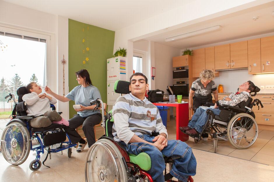 Bewohnerinnen und Bewohner von HABIT Betreutes Wohnen (Bild: FSW)